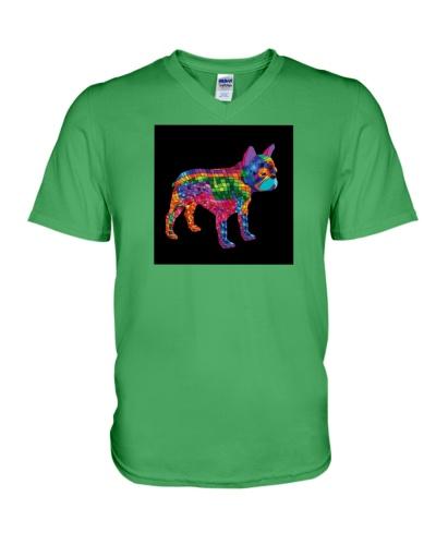 Rainbow Geometric Frenchie