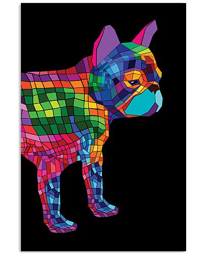 Rainbow Geometric Frenchie