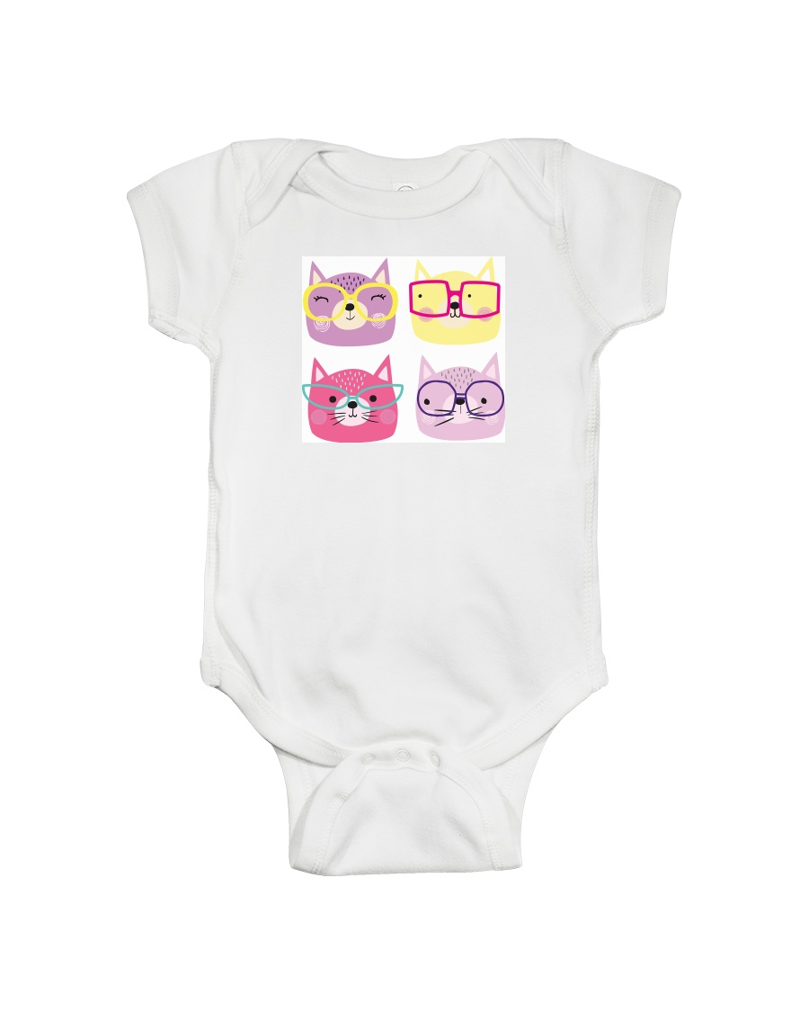 Cats with glasses Onesie
