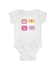 Cats with glasses Onesie front
