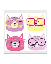 Cats with glasses Square Coaster thumbnail