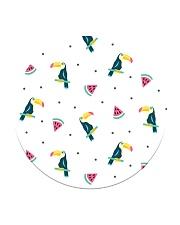 Toucans and Watermelon Circle Coaster thumbnail