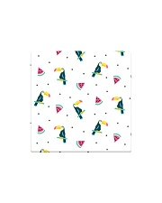 Toucans and Watermelon Square Magnet thumbnail