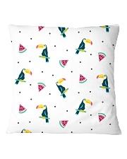 Toucans and Watermelon Square Pillowcase thumbnail