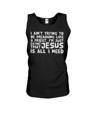Jesus is all I need black navy shirts Unisex Tank thumbnail