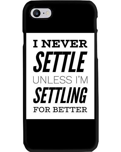 Never settle black tee