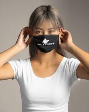 Official Klutch artist logo Cloth face mask aos-face-mask-lifestyle-16