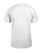 Never settle white tee Classic T-Shirt back
