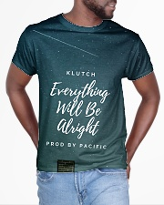 Klutch - Everything Will Be Alright All-over T-Shirt aos-all-over-T-shirt-lifestyle-front-04