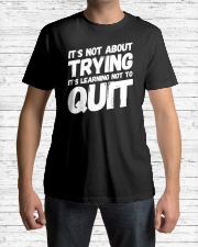 It's not about trying its learning not to quit Premium Fit Mens Tee lifestyle-mens-crewneck-front-1