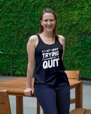 It's not about trying its learning not to quit Ladies Flowy Tank lifestyle-bellaflowy-tank-front-1