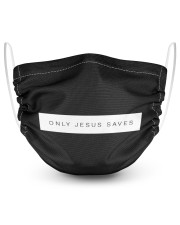 Only Jesus Saves  2 Layer Face Mask - Single thumbnail