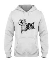 never give up Hooded Sweatshirt thumbnail
