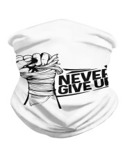 never give up Neck Gaiter front