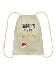 BUMPS FIRST CHRISTMAS Drawstring Bag thumbnail