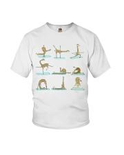 GIRAFFE YOGA VECTOR STYLE  Youth T-Shirt thumbnail