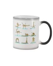 GIRAFFE YOGA VECTOR STYLE  Color Changing Mug thumbnail