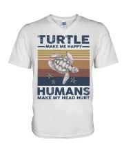 TURTLE GRUNGE STYLE TSHIRT V-Neck T-Shirt front