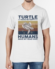 TURTLE GRUNGE STYLE TSHIRT V-Neck T-Shirt garment-vneck-tshirt-front-01