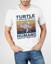 TURTLE GRUNGE STYLE TSHIRT V-Neck T-Shirt garment-vneck-tshirt-front-lifestyle-01
