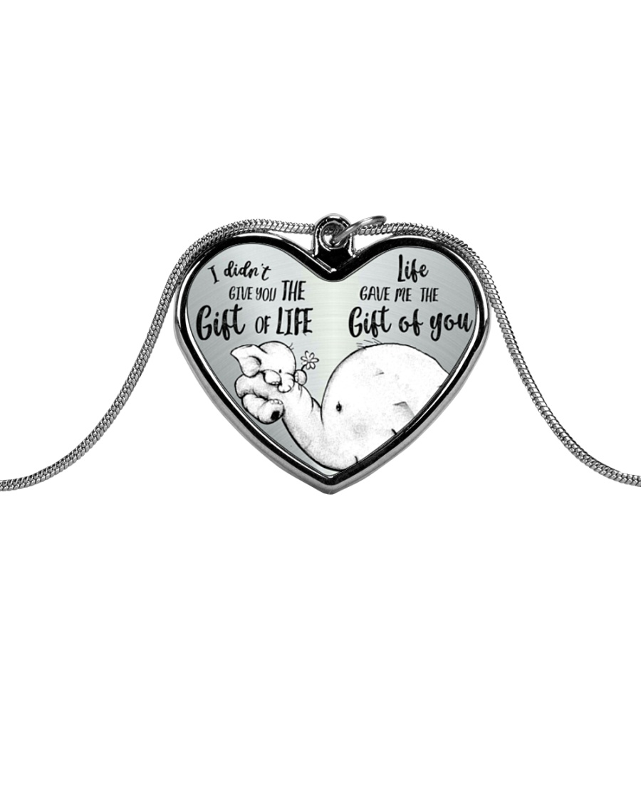 GIFT OF YOU Metallic Heart Necklace