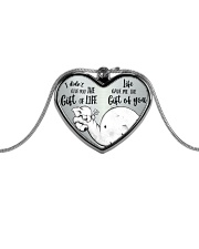 GIFT OF YOU Metallic Heart Necklace front