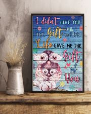Owl - I did not give you 16x24 Poster lifestyle-poster-3