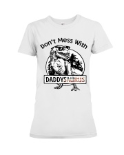 DONT MESS WITH DADDYSAURUS Premium Fit Ladies Tee thumbnail