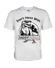 DONT MESS WITH DADDYSAURUS V-Neck T-Shirt thumbnail