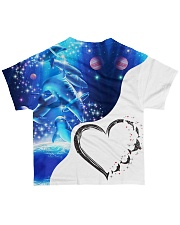 Heart dolphin  All-over T-Shirt back