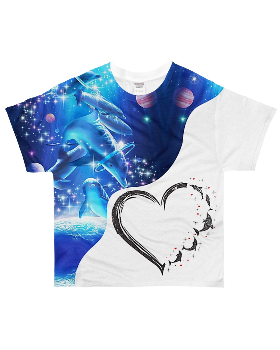 Heart dolphin  All-over T-Shirt