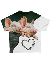 Heart Pig All-over T-Shirt back
