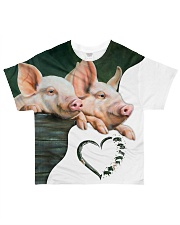 Heart Pig All-over T-Shirt front