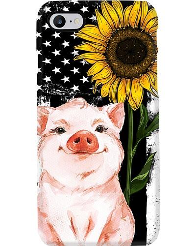 American Flag Sunflower Pig