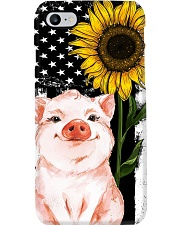 American Flag Sunflower Pig Phone Case i-phone-7-case