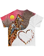 Heart giraffe  All-over T-Shirt back