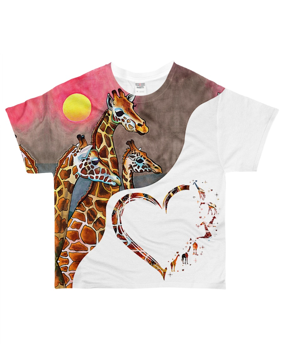 Heart giraffe  All-over T-Shirt