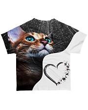 Heart cat 3 All-over T-Shirt back