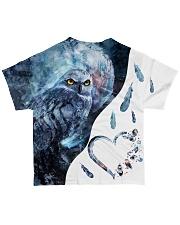 OWL HEART All-over T-Shirt back