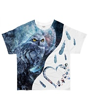 OWL HEART All-over T-Shirt front