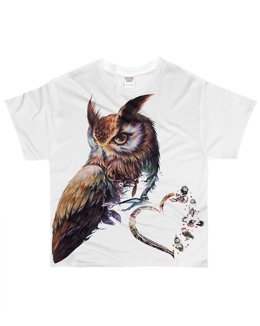 OWL HEART All-over T-Shirt