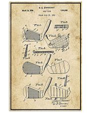 Golf Club Patent Drawing 16x24 Poster front