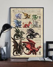 ADULT DRAGON SIZE COMPARISON CHART 16x24 Poster lifestyle-poster-2