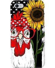 American Flag Sunflower Chicken Phone Case i-phone-8-case