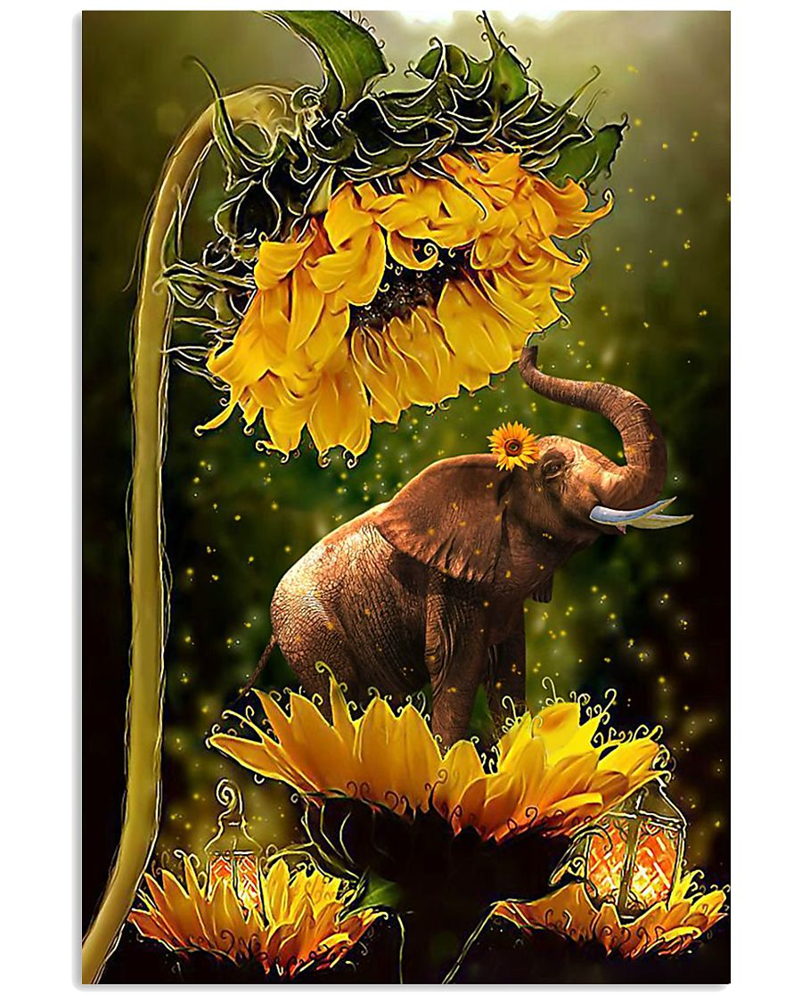 ELEPHANT SUN 16x24 Poster