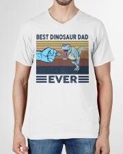 Dinosaurs VINGATE STYLE TSHIRT V-Neck T-Shirt garment-vneck-tshirt-front-01