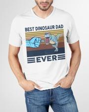 Dinosaurs VINGATE STYLE TSHIRT V-Neck T-Shirt garment-vneck-tshirt-front-lifestyle-01