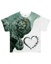 Heart Lion 4 All-over T-Shirt front
