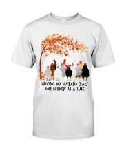 chicken tree autumn  Premium Fit Mens Tee front