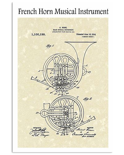 French Horn Musical Instrument 1914